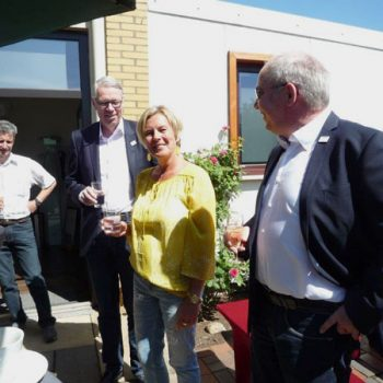 Empfang während des 50jährigen Jubiläums im Garten